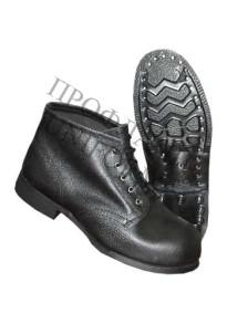 Ботинки комбинированные ю/к с цельноюфтевой союзкой гвоздевые