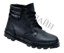 Ботинки борто-прошивные комбинированные утепленные